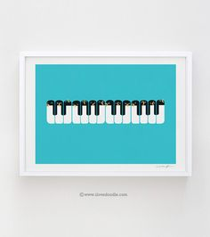 The Choir of Antarctica art print por ilovedoodle en Etsy
