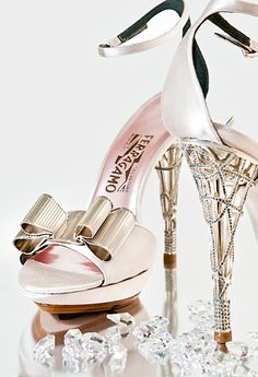 Salvatore Ferragamo Bridal shoe