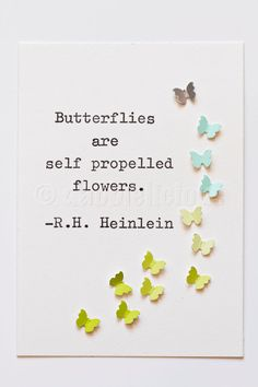 3D butterflies Typewriter Love No21 Original by dabblelicious, $ 23.00