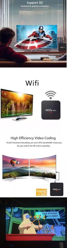 Internet and Media Streamers: Mxq Pro 4K Smart Tv Box Android 6.1 ,Kodi Kyrpton 17.3 Quad Core 8Gb -> BUY IT NOW ONLY: $39.99 on eBay!