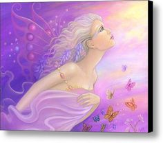 Butterfly Girl Canvas Print / Canvas Art By B K Lusk