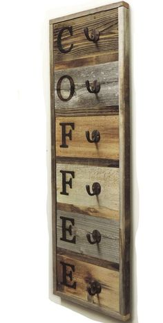 "We now have a vertical, slightly larger 6 Hook Barnwood Coffee Mug Rack! Because sometimes you need a little rusticity in your life and a whole lot of caffeine! This vertical 6 hook reclaimed wood Coffee Cup Holder measures approximately 36.75"" X 10.5"" and is designed to attach via rusty screws (included). This mug holder will accommodate mugs up to 4.25"" tall. Mugs not included."