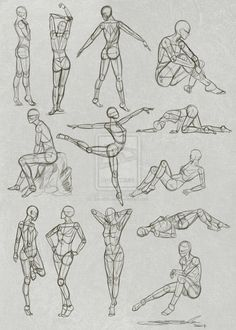 Pose Practice by SarahScala.deviantart.com on @deviantART
