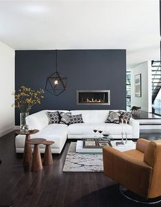 The blend between black and navy, ''Black Flame'' is that elegant shade you will admire on the trendiest walls of 2018. So, get started already with this modern color and start painting one or more walls of your home with this dreamy shade. If you're not convinced yet here are five reasons why we really love it: 1. It makes