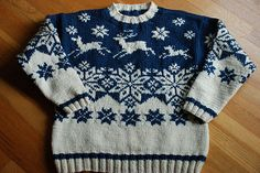 Reindeer Sweater pattern by Lane Borgosesia Christmas Jumpers, Christmas Sweaters, Reindeer Sweater, Xmas Stockings, Diy Projects, Patterns, Knitting, Baby, Kids