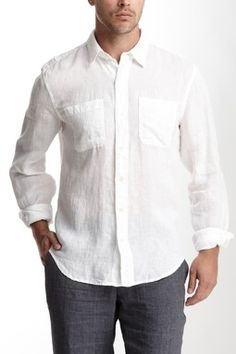 ...4 year Anniversary gift! Linen is what you give for year 4! Great shirt with a pair of khaki shorts.