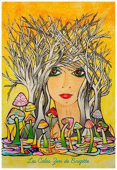 Kolorista Fanciful Faces Coloring Book