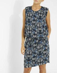 Robe ajustée imprimé à fleurs bleu Femme - Jacqueline Riu Collection  Printemps Été 2017, Printemps 5e580631dca