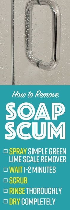 When soap and hard water dries, soap scum is left behind, leaving stubborn, unsightly spots on glass, granite, stainless steel sinks, shower doors, pool tiles, irons, toilets, tea kettles, and other surfaces. Cleaning and removing these stubborn water stains can sometimes be tough, and even dangerous, depending on your choice of descaler. Laundry Solutions, Cleaning Solutions, Diy Cleaning Products, Cleaning Hacks, Lime Scale Remover, Pool Tiles, Clean House Schedule, Hard Water Stains, Tea Kettles