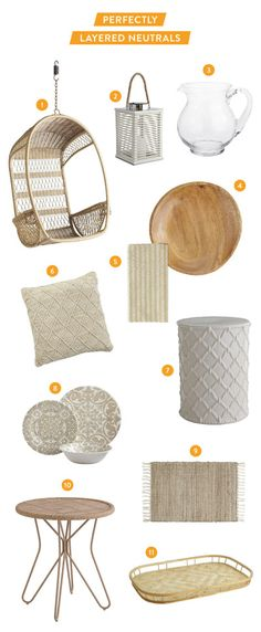 Layered Neutrals with Pier 1 Imports: http://www.stylemepretty.com/living/2015/06/22/inspired-by-layered-neutrals-with-pier-1-imports/