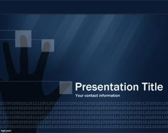 PowerPoint template - free technology security digital background for digital product presentations.