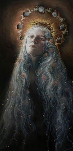 """blossoming"" by Sasha yosselani (*velvetanatomy) on deviantart / full moon / Embodied <3"