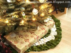Renewed Upon a Dream: Ruffle Christmas Tree Skirt DIY