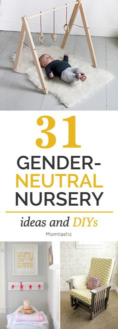 From mobiles to rugs to foot rests to changing tables, look to your toolbox before buying your wants for the nursery. Here are some of my favorite gender neutral nursery ideas. Whether you're keeping the sex of your baby a surprise or you're just into the look, these DIY projects can be customized for a boy or a girl.