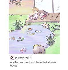 Their dream house would probs be Neko Atsume + owl slide XD