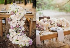 An abundant floral runner courtesy of The Knot.