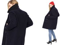 The pea coat is even better when it's stolen from your boyfriend.
