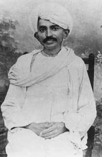 Mohandas Karamchand Gandhi, commonly known as Mahatma Gandhi or Bapu, was the preeminent leader of Indian nationalism in British-ruled India, wearing turban.