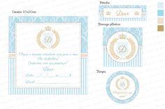Kit Digital para imprimir Príncipe - Azul e Bege - Charme Papeteria
