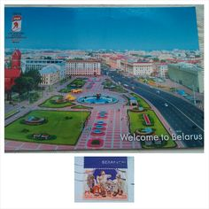 Welcome to Belarus postcard