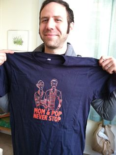 Our First T-Shirt! Mom & Pop Never Stop t-shirt on Little Independent.