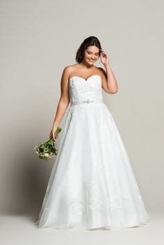 Tulle Satin Sweetheart Neckline Gown at navabi. Curvy Bride, Satin, Plus Size Wedding, Bridal Boutique, Elegant, Bridal Dresses, Plus Size Fashion, Cool Hairstyles, Gowns