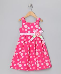 Take a look at this Hot Pink Polka Dot Babydoll Dress - Infant, Toddler & Girls by Longstreet on #zulily today!