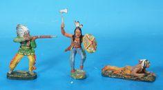 ELASTOLIN 3 Indianer 7 cm um 1930 Masse 3021   eBay