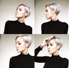 Hair and makeup today has actually gone well Short Bob Hairstyles, Hairstyles Haircuts, Pretty Hairstyles, Hair Inspo, Hair Inspiration, Short Hair Cuts, Short Hair Styles, Corte Y Color, Haircut And Color