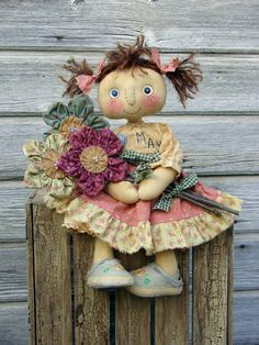 Very cute pattern on Etsy!  CF242 MAYS FLOWERS - Doll E-Pattern