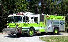 Miami Fire Department | Miami-Dade Fire Rescue Key Biscayne Engine 15 1997 Spartan Baron ...