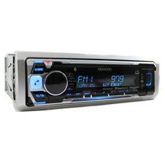 Kenwood KMR-M315BT Marine Single-DIN In-Dash Marine CD Receiver with Bluetooth, Pandora Internet Radio and SiriusXM Ready, Black
