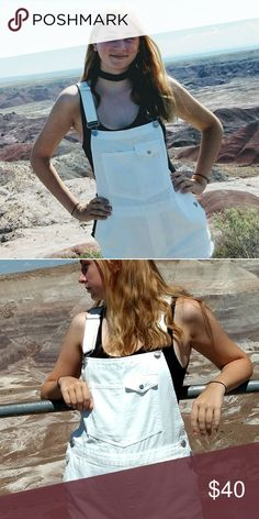 White Urban Outfitters Overalls (Shorts) Worn twice white overalls purchased from Urban outfitters in June. Perfect for a date or even an adventure! As always, offers are always welcome:) Urban Outfitters Other