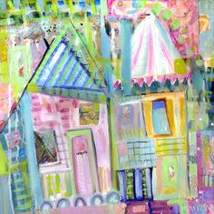 Downtown+Houses+by+Wyanne+on+Etsy