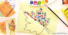 """Manualidades para niños: Hoy traigo una manualidad muy fácil de hacer, para niños a partir de 3 años y que segurotodos habéis hecho cuando erais niños, espero que os traiga buenos recuerdos y la volváis a disfrutéis ahora con vuestros pequeños. En preescolar los niños ya son capaces de asimilar algunos conceptos matemáticos básicos que pueden plasmar en sus """"obras de arte"""" mediante simetrías, y es una buena actividadque pueden realizar desde muy pequeños, primero pintando con los dedos y…"""