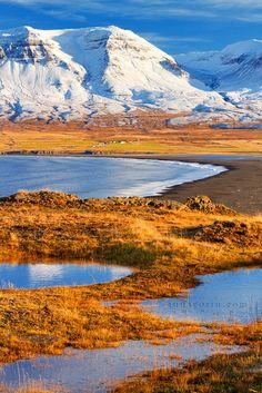 Snow on the fjörds | Vopnafjörður, Iceland