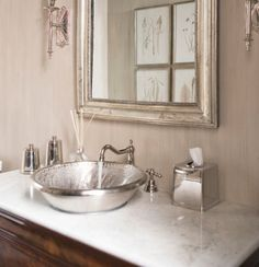 Gorgeous silver sink