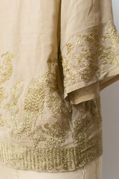 vintage 1920s silk gold embroidered blouse