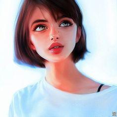 ღworld of illustrationsღ art/anime in 2019 digital art girl, art, art sketc Digital Art Girl, Digital Portrait, Portrait Art, Cartoon Kunst, Cartoon Art, Girly Drawings, Arte Sketchbook, Anime Art Girl, Manga Girl