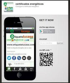 Certificado energético con http://www.etiquetatucasa.com descarga nuestra  aplicación para móvil.