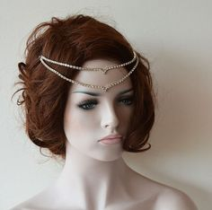 Wedding Headband, Wedding head chain, hair jewelry, Wedding Rhinestone Headband, Wedding Headchain, Wedding Hair Accessories