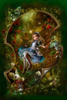 Alice montage. Alice In Wonderland Poster, Adventures In Wonderland, Art Disney, Disney Pixar, Disney Characters, Dear Alice, Chesire Cat, Ravensburger Puzzle, Alice Madness