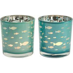 Fish Glass Blue