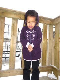 Peekaboo Beans Snow Bunny Coat