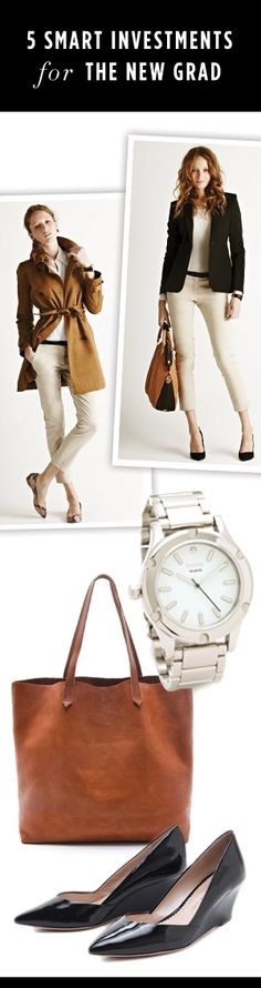5 Smart Investments for the New Grad. Read more here: http://blog.shopbop.com/2012/05/5-smart-investments-for-the-new-grad.html