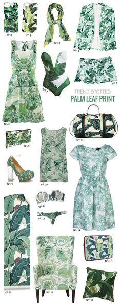 // Trend Spotted: Palm Leaf Print by Modern Eve