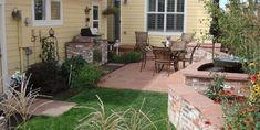 Small Backyard Landscaping Outdoor Fireplace Cascade Design Lakewood, CO Landscape Design, Garden Design, Cascade Design, Trees For Front Yard, Small Backyard Landscaping, Small Gardens, Survival, Patio, Outdoor Decor