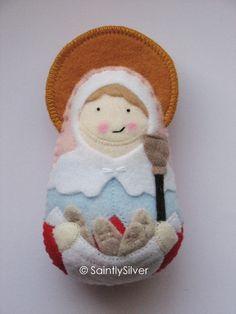 Saint Genevieve Felt Saint Softie