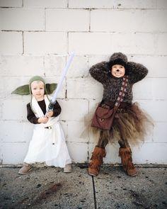 #starwars #halloween #dyi #yoda #costume #chewbacca