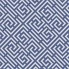 A small scale all over design with a Greek Key style pattern creating a diagonal trellis. Available in several colours - shown in the blue. Pattern repeat 8.8 cm. Please request sample for true colour match. Search: Pavillion